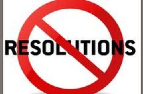 Article : Résolution 2016: Pas de résolution!